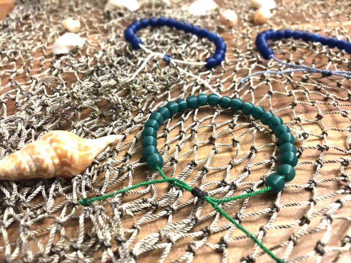 Sana Mare bracelet in fishing net